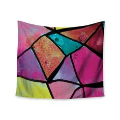 """Theresa Giolzetti """"Stain Glass 3"""" Wall Tapestry"""