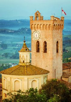Town of San Miniato in the Pisa province of Tuscany region, Italy.