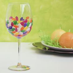 Jelly Beans - Easter wine glass