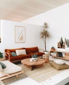Interiors // white & rust