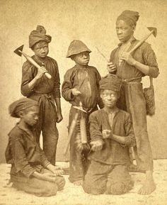 """Chimney Sweeps""  Photograph, ca. 1870  J.N. Wilson"