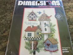 DIMENSIONS, COUNTED CROSS STITCH, BIRDHOUSE WELCOME #DIMENSIONS #BIRDHOUSEWELCOME.  eBay item number:131571313421