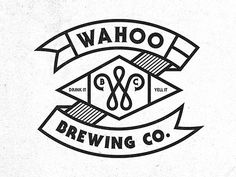 Dribbble Wahoo Brew. Co. 03 by Pavlov Visuals in Line Art
