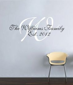 Personalized Family Decal - $19.99. http://www.bellechic.com/products/f74fea0661/personalized-family-decal