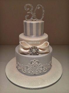 Melle's Cupcakes - Birthday Cake Elegant Birthday Cakes, 30th Birthday Cake For Women, 3 Tier Birthday Cake, Birthday Cake For Women Elegant, 50th Birthday, 50th Cake, Cake Craft, Gorgeous Cakes, Pretty Cakes