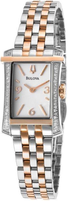 Bulova Men s Classic Diamond Stainless Steel Watch 96P183