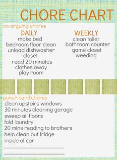 Chores Chart - customize