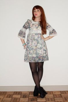Acquerello 60s Mod Mini abito in pizzo di NoteworthyGarments, $34.00