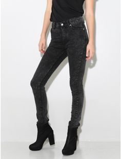 second skin jeans black stone