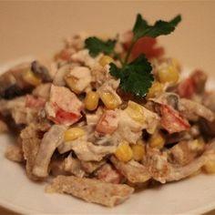 Салат из морской капусты, кукурузы и сухариков рецепт – салаты. «Афиша-Еда»