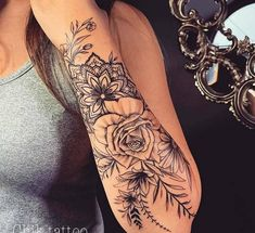 Beautiful Ways to Flower Tattoo Sleeve for Women (Designs Inspiration - Tattoos - Tattoo Designs for Women Tattoo Femeninos, Tattoo Style, Tattoo Fonts, Piercing Tattoo, Body Art Tattoos, New Tattoos, Piercings, Tatoos, Forearm Tattoos