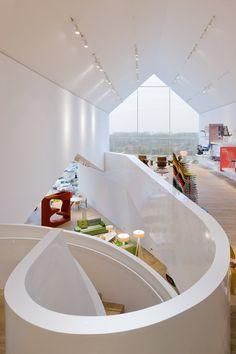 VitraHaus in Weil am Rhein, Germany. Designed by Swiss architects Herzog & de Meuron.