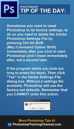Sometimes you need to reset Photoshop to its factory settings
