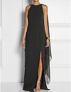 87a3178d4c0 Femme Fendue Grandes Tailles Soirée Elégant Maxi Courte Robe - Effets  superposés