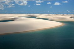 Every year during the rainy season, Brazil's Lençóis Maranhenses National Park treats visitors to an amazing sight