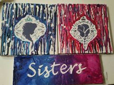 Frozen Melted Crayon Art Check out my shop for more designs! Check out this item in my Etsy shop https://www.etsy.com/listing/214749322/frozen-sisters-package-crayon-art-set