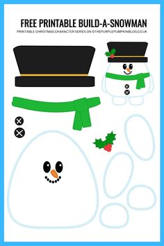 Build a Printable Snowman Free printable paper snowman template – Christmas Crafts Free Christmas Printables, Printable Crafts, Printable Paper, Free Printables, Snowman Printables, Build A Snowman, Snowman Crafts, Snowman Wreath, Christmas Crafts For Kids