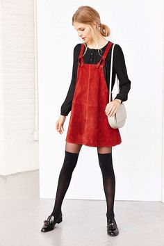 Just Add Thigh High Socks - How To Wear the Pinafore Trend Without Looking Like A Kid - Photos