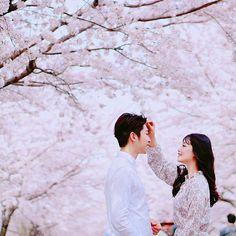 Trong hình ảnh có thể có: 2 người, đám cưới, cây và ngoài trời Love Photos, Cool Pictures, Couple Photos, Beautiful Love, Beautiful Couple, Couple Ulzzang, Asian Love, Korean Couple, Fashion Couple