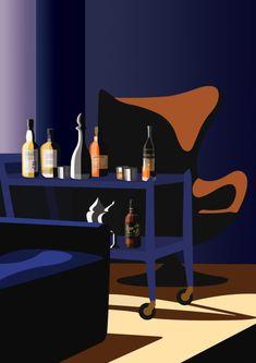 Mathilde CRETIER, Illustrations for the Virginie agency Movie Intro, Flat Illustration, Negative Space, Portrait Art, Pop Art, Art Projects, Design Inspiration, Interior Design, Artwork