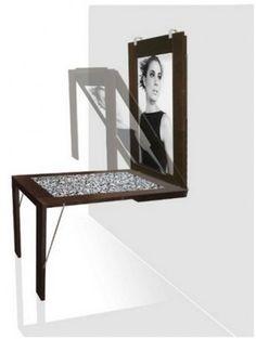 Mesa que vira quadro - Quadro que vira mesa  Modern Portrait Tables
