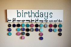 Items similar to Custom Family/Friends Birthday Calendar- Made to Order on Etsy
