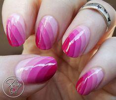19 Gorgeous Ombre Nails - Pink curvy gradient.
