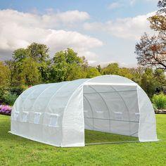 ProBache - Grande serre de jardin tunnel toutes saisons 18 m² 180gr ...