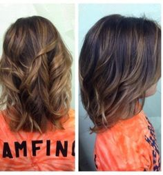 Balayage Ombre Short Wavy Hairstyle- Hairstyles for Dark Brown Hair