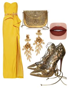 """""""Untitled #192"""" by desperamy ❤ liked on Polyvore featuring Notte by Marchesa, Oscar de la Renta, From St Xavier and Christian Louboutin"""