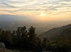 Sun setting in cassino