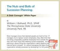Succession Planning White Paper by Dale Carnegie Training - Download Free