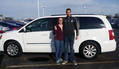 Kyle and Sabrina, we're so excited for all the places you'll go in your 2016 CHRYSLER TOWN & COUNTRY!  Safe travels and best wishes on behalf of Landmark Chrysler Jeep Fiat and AARON METCALF.