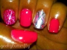pink/silver/stripes