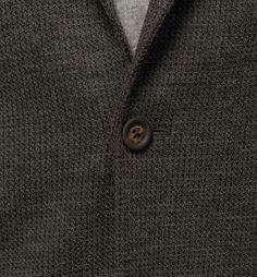 STRUCTURED GREY JACKET - button