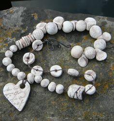 premo! Faux Bone Necklace from Polyform #Polymer #Clay #Tutorials
