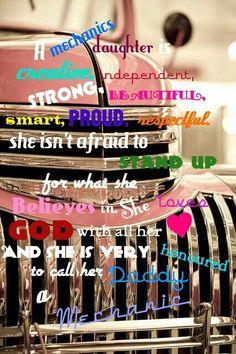 A mechanics daughter is....