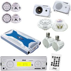 Save $ 100 order now Pyle Marine Stereo, Radio Receiver, Speaker, Subwoofer and
