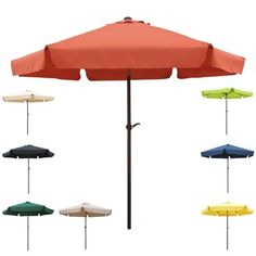 Shop For International Caravan Steel Rib 8 Foot Patio Umbrella. Get Free  Delivery At