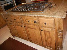 BEFORE - oak kitchen island