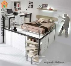 Картинки по запросу комната для подростка с подиумом