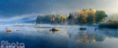 Lac de Lispach en automne, La Bresse