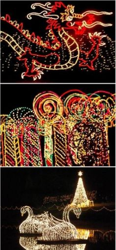Bellingrath Gardens in Theodore, Alabama - Magic Christmas in Lights - stroll through 3 million lights in beautiful gardens