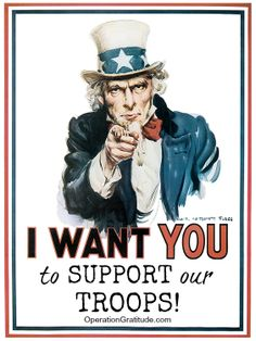 We want YOU to join us in support of our Military! http://www.OperationGratitude.com