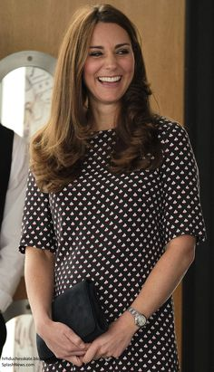 Duchess Kate: A Nautical Kate in Max Mara & Somerset by Alice Temperley for 1851 Trust Visit