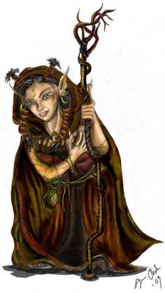 Female Gnome Female gnome, rock cleric 11: