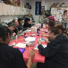 Liquid Watercolor printmaking by New Mexico art teachers