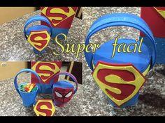Dulcero Súper Hombre, facil, Super Man easy birthday bag - YouTube