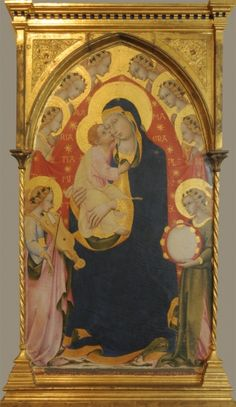 Sano di Pietro - Madonna in trono con Bambino e otto angeli - Pinacoteca…