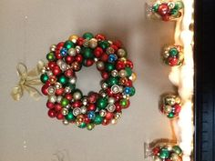 my homemade Christmas wreath and decorations #DIY